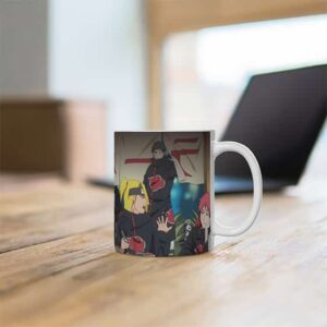 Akatsuki All Members Eating Ramen Cute Artwork Coffee Mug