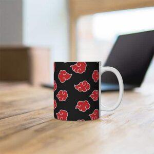 Akatsuki Red Cloud Symbol Pattern Unique Ceramic Mug