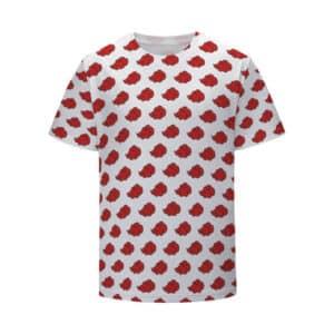 Akatsuki Shinobi Group Red Cloud Logo Pattern Kids Tee