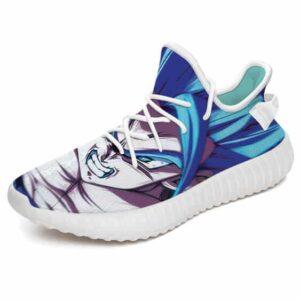 Amazing DBZ Vegito Super Saiyan Blue Yeezy Sneakers