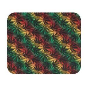 Amazing Marijuana 420 Weed Rastafarian Colors Mouse Pad