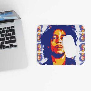 Awesome Bob Marley Pantone Head Pattern 420 Mouse Pad