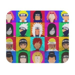 Awesome Naruto Various Characters Pop Art Mouse Pad