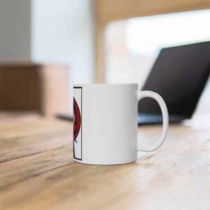 Badass Uchiha Sasuke Holding Katana White Coffee Mug