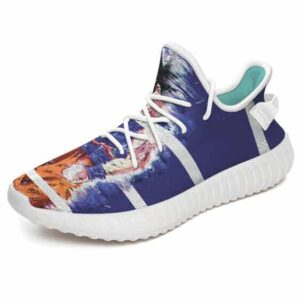 Bruised Son Goku Stripes Navy Blue DBZ Yeezy Shoes