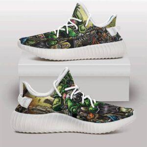 Cell Futuristic Domination DBZ Fan Art Yeezy Shoes