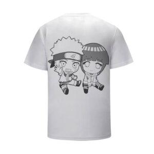 Chibi Naruto Uzumaki and Hinata Hyuga White Kids Tee