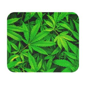 Cool Cannabis 3D Realistic Weed Hemp Green Mouse Pad