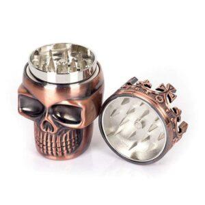 Crowned King Skull Head Design Badass 420 Weed Grinder