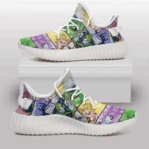 DBZ Protagonists and Villains Vibrant Yeezy Sneakers