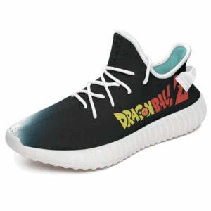 DBZ Super Saiyan Goku Kamehameha Black Yeezy Sneakers