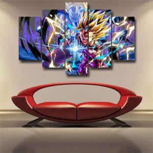 DBZ Super Saiyan Teen Gohan Electrifying Wall Art Canvas