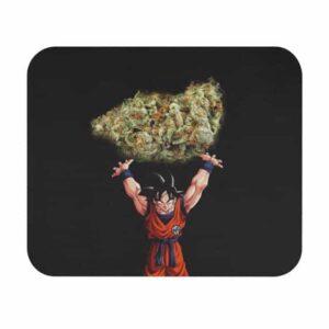 Dope Son Goku Spirit Ganja Kush Strain Black Mouse Pad