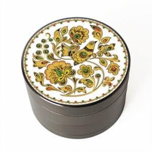 Elegant Flower & Bird Design Art Marijuana Herb Grinder