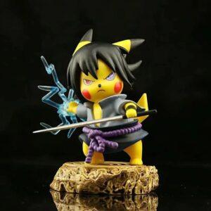 Epic Sasuke Uchiha Chidori Pokemon Inspired Action Figure