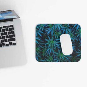 Fantastic Kush 420 Marijuana Blue Green Gaming Mouse Pad