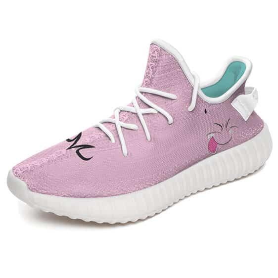 Fat Majin Buu Quirky Face Pink Stylish Yeezy Shoes