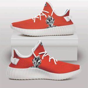 Goku Monochrome Art with Kanji Logo Orange Yeezy Shoes