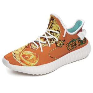 Golden Shenron Dragon Ball Logo Orange Yeezy Sneakers