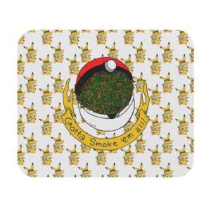Gotta Smoke Them All Pokem Pikachu Smoking Bong Mouse Pad