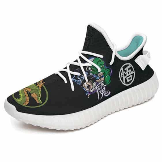 Great Ape Vs Kid Gohan Piccolo Shenron Black Yeezy Shoes