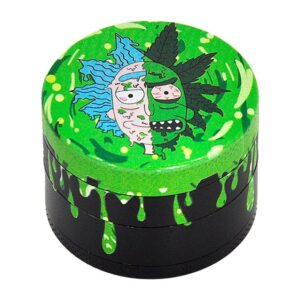High Rick Sanchez Green Drip Art Dope 420 Marijuana Grinder