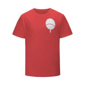 Iconic Uchiha Clan Paper Fan Symbol Red Kids Shirt