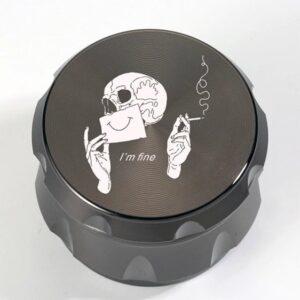 I'm Fine Smoking Skull Art Stylish Marijuana Herb Grinder