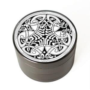 Interlaced Celtic Birds Design Cool 420 Marijuana Grinder