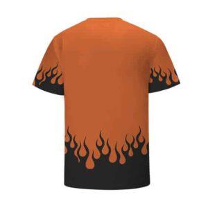 Konoha Hidden Leaf Village Logo Fire Orange Kids Shirt