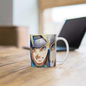 Legendary Ninjas Naruto & Sasuke Artwork Ceramic Mug