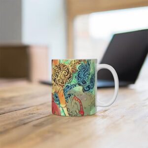 Lovely Naruto Hanging Out With Tailed Beasts Art Coffee Mug
