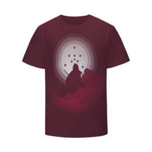 Madara Uchiha Silhouette Rinnegan Maroon Kids T-Shirt
