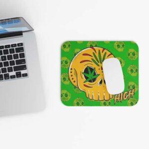 Marijuana Candy Skull Calavera Dope Gaming Mouse Pad