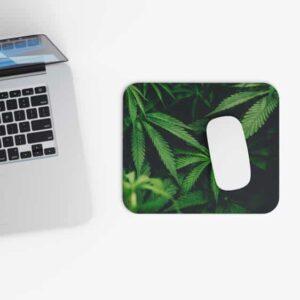 Marijuana Hemp Plant 420 Green Fantastic Mouse Pad