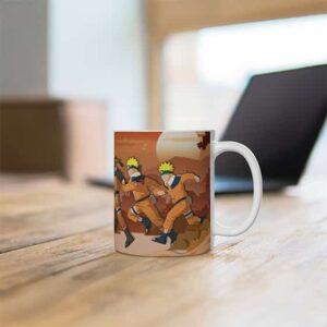 Naruto Uzumaki Young To Adult Journey Art Awesome Coffee Mug