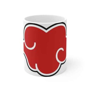 Powerful Akatsuki Red Cloud Symbol Ceramic Coffee Mug