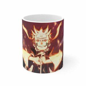 Powerful Team 7 Naruto Sakura Sasuke Artwork Ceramic Mug