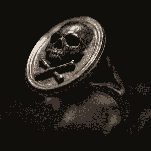 Skull And Crossbones Pirate Emblem Stainless Steel Ring