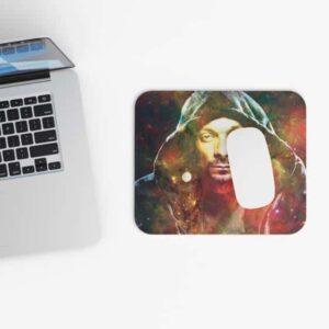 Snoop Dogg Portrait Galaxy Design Non-Slip Mouse Pad