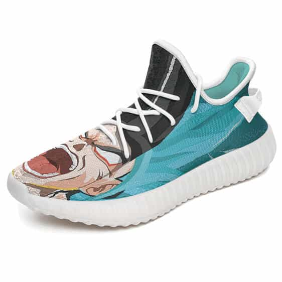 Son Goku Super Saiyan Forms Epic Artwork Yeezy Shoes