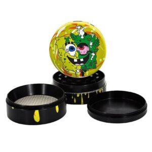 Stoner Spongebob Squarepants Yellow Drip Art Weed Grinder