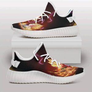Super Saiyan Goku And Vegeta Rivalry Cool Yeezy Shoes