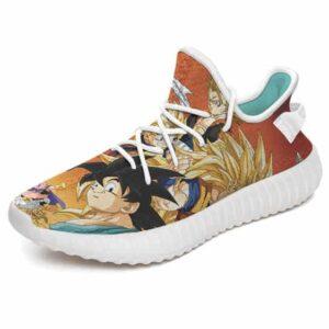Super Saiyan Goku Vegeta And Gohan with Buu Yeezy Boost