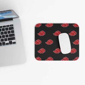 Team Akatsuki Red Clouds Logo Pattern Gaming Mouse Pad