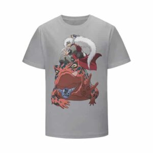 Toad Sage Jiraiya's First Toad Gamma Light Gray Kids Shirt