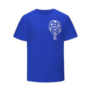 Tribal Art Uchiha Clan Paper Fan Logo Blue Kids T-Shirt