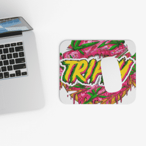 Trippy Logo Weed Donut Cannabis Non-Slip Mouse Pad