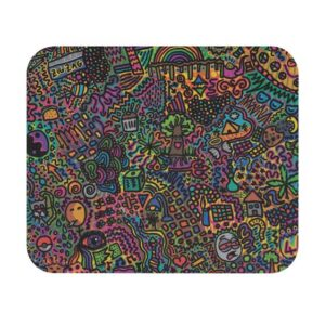 Trippy Psychedelic 420 Weed Art Non-Slip Mouse Pad