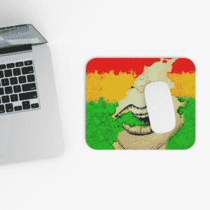 Unique Rasta Colors Smoke Weed 420 Gaming Mouse Pad